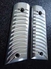 ALUMINUM 1911 PISTOL GRIPS CNC MACHINED CURVED FINS COLT KIMBER RUGER + OTHERS