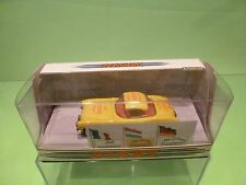 DINKY TOYS DY023/A CHEVROLET CORVETTE 1956 - YELLOW 1:43 - NMIB - SPECIAL DECALS