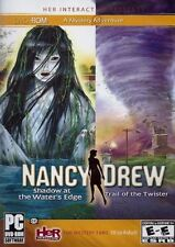 Nancy Drew: Shadow At Water's Edge + Trail Of The Twister - Mystery Crime PC NEW