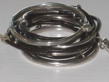 """UNO DE 50  HANDCRAFTED in SPAIN SILVER PLATED+ LEATHER  """"ANNIVERSARY""""  BRACELET"""