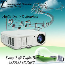 4500lm Home Movie Theater Projector 1080p LED LCD Film Video Full HD TV VGA USB