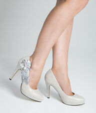 Wedding Shoes - Bride / Bridal / Bridesmaid / Prom /  Ivory White - Size 7 UK