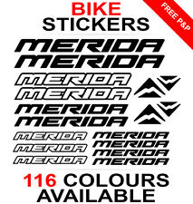 Merida decals stickers sheet (cycling, mtb, bmx, road, bike) die-cut