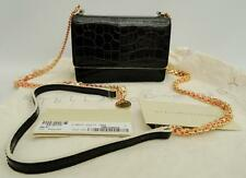 STELLA MCCARTNEY Black croc-print Shoulder Bag Falabella