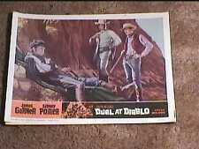 DUEL AT DIABLO 1966 LOBBY CARD #8 WESTERN SIDNEY POITIER