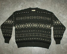 VTG Eddie Bauer Recycled Wool Winter Sweater Made in USA XL Gray VTG Snow Aztec