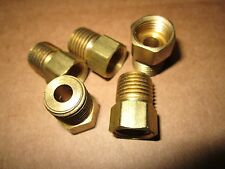 "FIVE Brass 1/4"" PIPE  NPT X 5/16"" INVERTED FLARE  FITTINGS AIR GAS FREE SHIP"