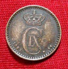 Denmark 1 Ore  1883 (h)Cs EF/AU Details! KM#792.1