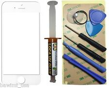 White Outer Glass Lens Screen iPhone 5, 5S, 5C, Replacement UV LOCA Glue 7 Tools