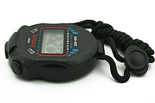 Sport Running LCD Digital Countdown Stopwatch UP Timer Alarm Clock Chronograph