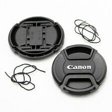 2X 82mm Front Lens Cap For Canon DSLR Lens NEW Center-Pinch Snap-On With Cord