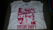"Taylor Swift ""White Squares"" T-Shirt M Medium 100% Pre-Shrunk Cotton"