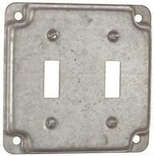 LOT OF 3 Steel Double Toggle Light Switch Plate Cover RS530 Square Box Cover