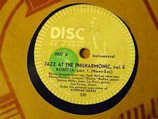 Disque 78 tours Disc Asch Jazz At the Philarmonic Vol 5