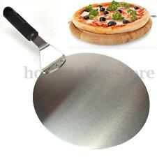 10'' Round Stainless Steel Pizza Spatula Peel Shovel Turner Cake Lifter Tray Pan