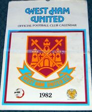 WEST HAM FOOTBALL CLUB 1982 OFFICIAL CALENDAR