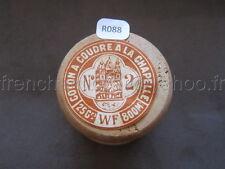 R088 Mercerie vintage ancienne bobine bois fil coton A LA CHAPELLE 2  WF Paris