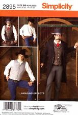 Simplicity Sewing Pattern 2895 Men's Western Costume 46 - 52 coat shirt vest