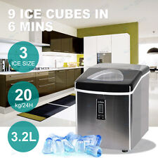 3.2L Home Portable Cube Ice Maker Machine Commercial Easy Auto Snow LCD Display
