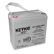 12V 55Ah HRT High Rate SLA Replacement Rechargeable KEYKO® AGM Battery (T1)