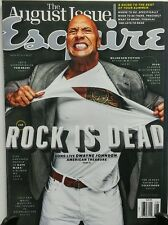 Esquire August 2015 Dwayne Johnson The Rock is Dead Kate Mara  FREE SHIPPING sb