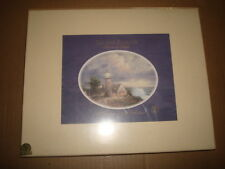"Thomas Kinkade Boxed Set Of 2 Matted Collector Prints ""The Guiding Light"""