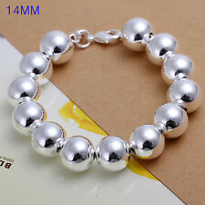wholesale sterling solid silver fashion charms 14mm ball Bracelet XCSB080