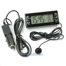New Time Display Digital Car Alarm Clock Thermometer Temperature Monitor DC 12V