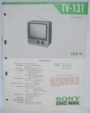 SONY TV-131 Television Original SERVICE MANUAL