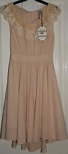 BELLE HEART @ NEW LOOK LACE CUT OUT DRESS M MEDIUM BNWT