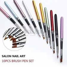 10Pcs Colorful Nail Art Design Polish Brush Pen Set for UV Gel Painting Tool