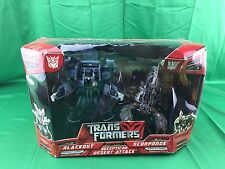 TRANSFORMERS DECEPTICON DESERT ATTACK BLACKOUT & SCORPONOK (BEAT UP BOX)