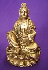 """4"""" Bronze Color Sitting Kwan Yin Statue (Kuan Yin, Guan Yin)"""
