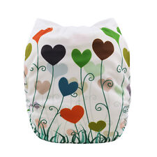 Alva Baby Reusable Adjustable Washable Cloth Diaper Nappy +1Insert Easter