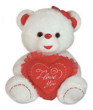"14"" Valentine's Teddy LOVE U Bear Stuffed Animal Plush Oso Felpa Peluche White R"