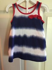 NWT - Infant Girls Okie Dokie, 4th Of July Blue Dress With Matching Panties