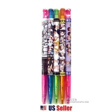 BTS BANGTANG BOYS Photo Ballpoint Pen KPOP Pen (Black Ink) 5pcs 1 Set : BTS