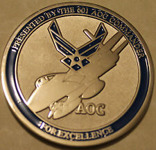 601st Air & Space Operations Center AOC Commander Air Force Challenge Coin NORAD