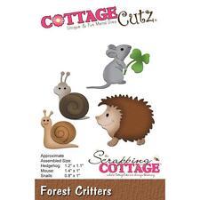 Hedgehog Mouse Snails Die Steel Craft Die Cutting Dies COTTAGE CUTZ CC222 New