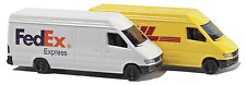N scale Mercedes Sprinter delivery Vans Fed EX and DHL set Busch Germany 8304