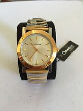 Caravelle by Bulova Golden and Silver tone blacelet women's  watch