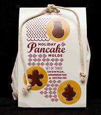 Williams-Sonoma Holiday Pancake Molds Snowman Gingerbread Man & Christmas Tree