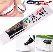 Bamboo Charcoal Teeth Whitening Black Toothpaste Removes Stains Bad Breath
