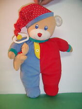VINTAGE EDEN KIDS II  MUSICAL PULL PRIMARY COLOR BEAR - YOU ARE MY SUNSHINE  VGC
