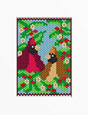 Cardinals In The Holly Pony Bead Banner Pattern