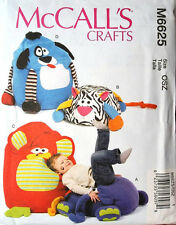 McCall's 6625 Children's Adorable Animal Poufs and Chairs Pattern