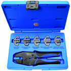BGS Germany 6-pc Electricians Ratchet Ratcheting Pliers Crimping Tool Set 5 Jaws
