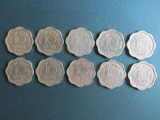 10 PAISE SET OF COPPER NICKEL 10 COINS - 1957 TO 1966