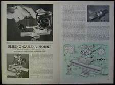 Take Stereo Pictures w/Sliding Camera Mount How-To build PLANS