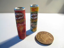 2 DOLLS HOUSE MINIATURE PRINGLES